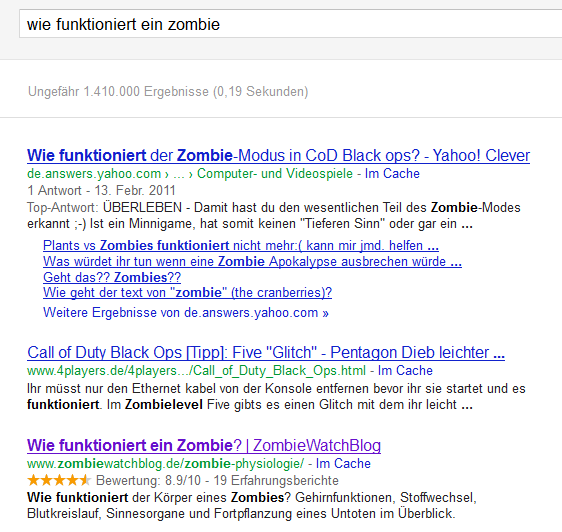 Sterne-Bewertung mt Rich Snippets