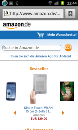 Amazon.de mobil